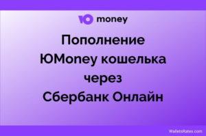 Пополнение Юmoney через Сбербанк Онлайн