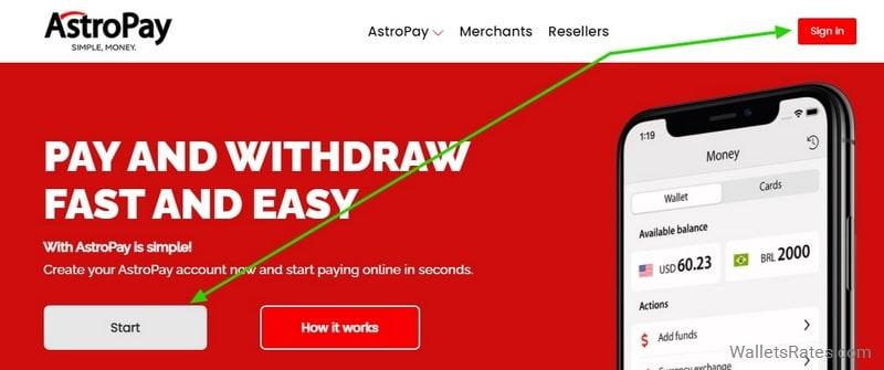 AstroPay регистрация аккаунта